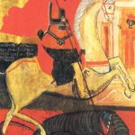 Sant Jordi a las puertas de la ciudad (alguna 1667)