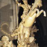 Sant Jordi, a caballo, allanceja el dragón (alguna 1700)