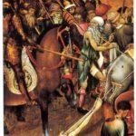 Retaule de Sant Jordi, taula de l'arrossegament cap al suplici (qualunque 1430)