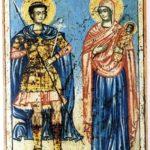 San Jorge y la Virgen (alguna 1500)