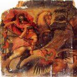 San Jorge a caballo enfila al dragón (alguna 1600)