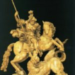 San Jorge a caballo allancejant el dragón (alguna 1755)