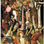 Retablo de San Jorge, tabla de la flagelación (alguna 1430)