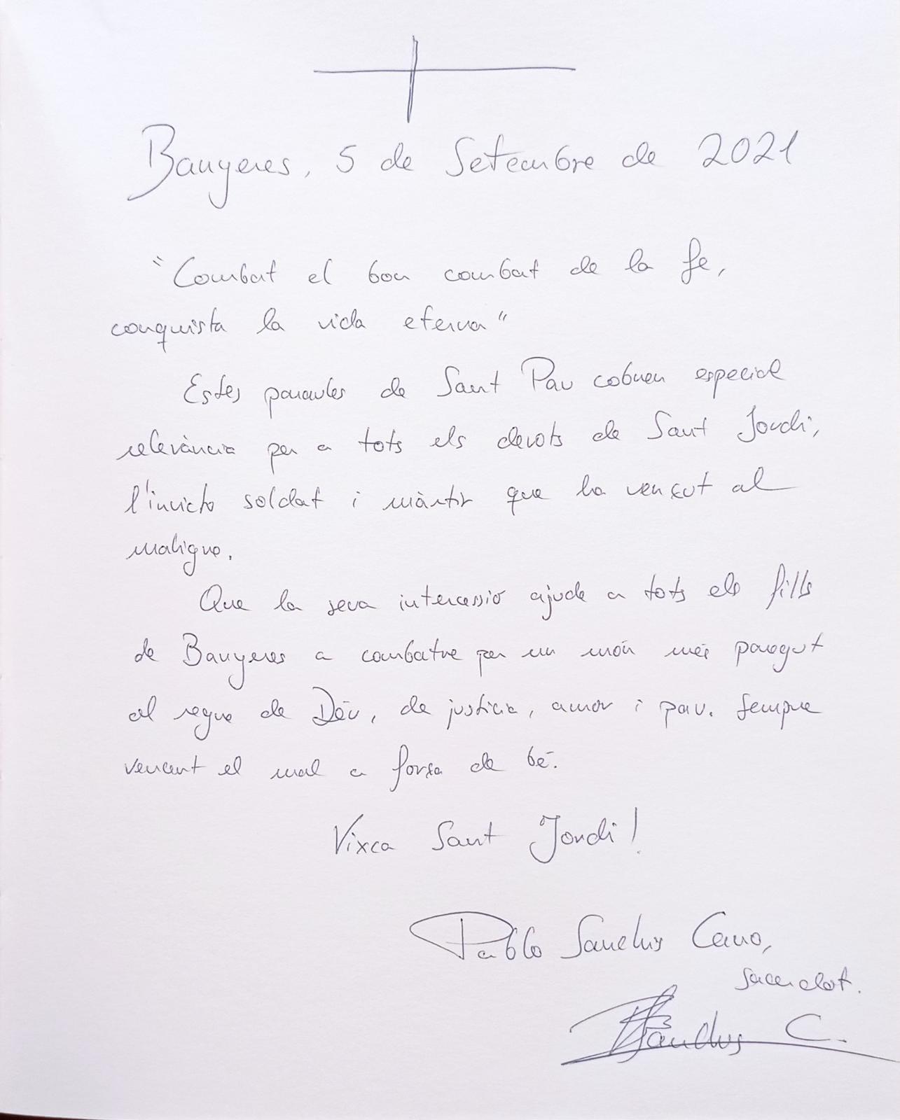 En Pablo Sanchis Cano, Vicari de la Parròquia San José d'Ontinyent (05-09-2021)