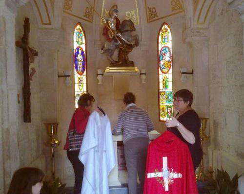 2011-04-23, Preparatius per a les festes de Sant Jordi