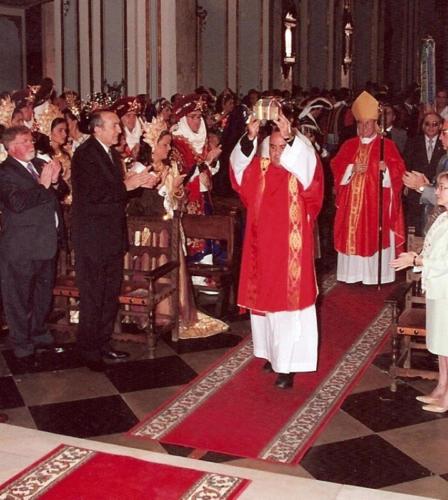 2003-09-07, Chegada da segunda relíquia de São Jorge