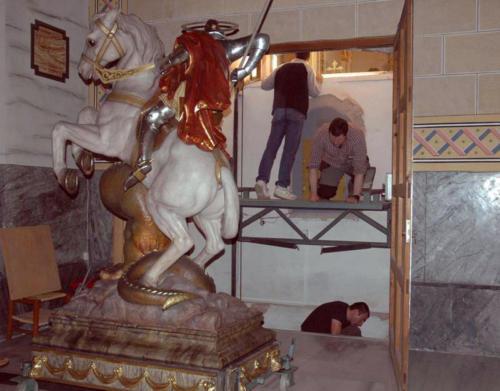 2011-04-26, Les préparatifs de la fête de Sant Jordi