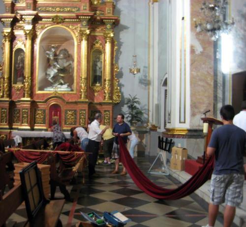 2010-08-29, Preparatius per a les festes de la Relíquia