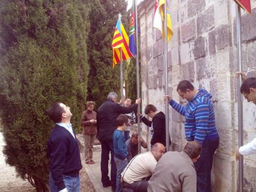 2011-04-23, Les préparatifs de la fête de Sant Jordi