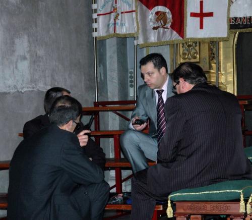 2011-04-30, Preparatius per a la processó de Sant Jordi