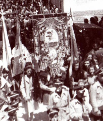1945-05-27, Benedicció del guió de Sant Jordi