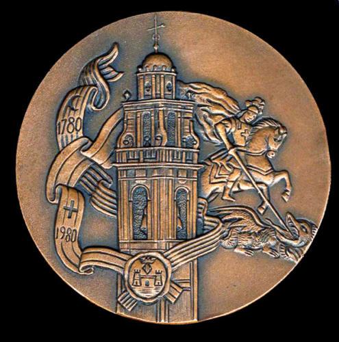 1980-09-07, Medalla commemorativa II Centenari Relíquia Sant Jordi