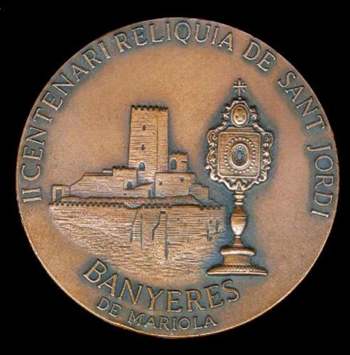 1980-09-07, Centenario Medaglia commemorativa II Relic Sant Jordi