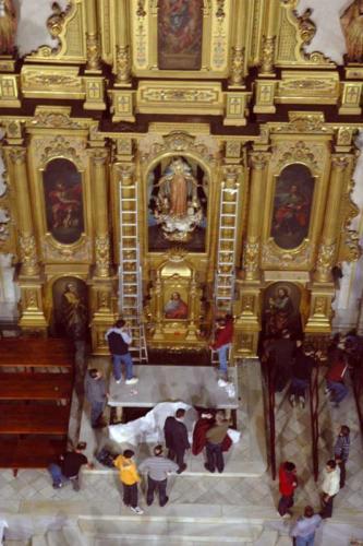 2011-04-26, Preparatius per a les festes de Sant Jordi